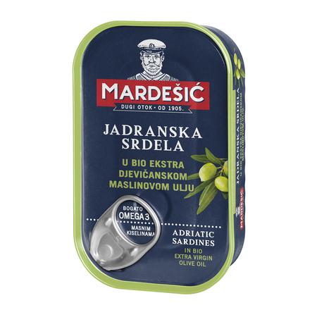 Adriatyckie sardynki w bio oliwie z pierwszego tłoczenia (Jadranska srdela u bio-ekstra djevičanskom maslinovom ulju) 90 g (1)