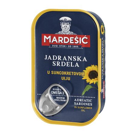Adriatyckie sardynki w oleju słonecznikowym (Jadranska srdela u suncokretovom ulju) 90 g (1)