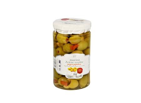 Zielone oliwki z papryką